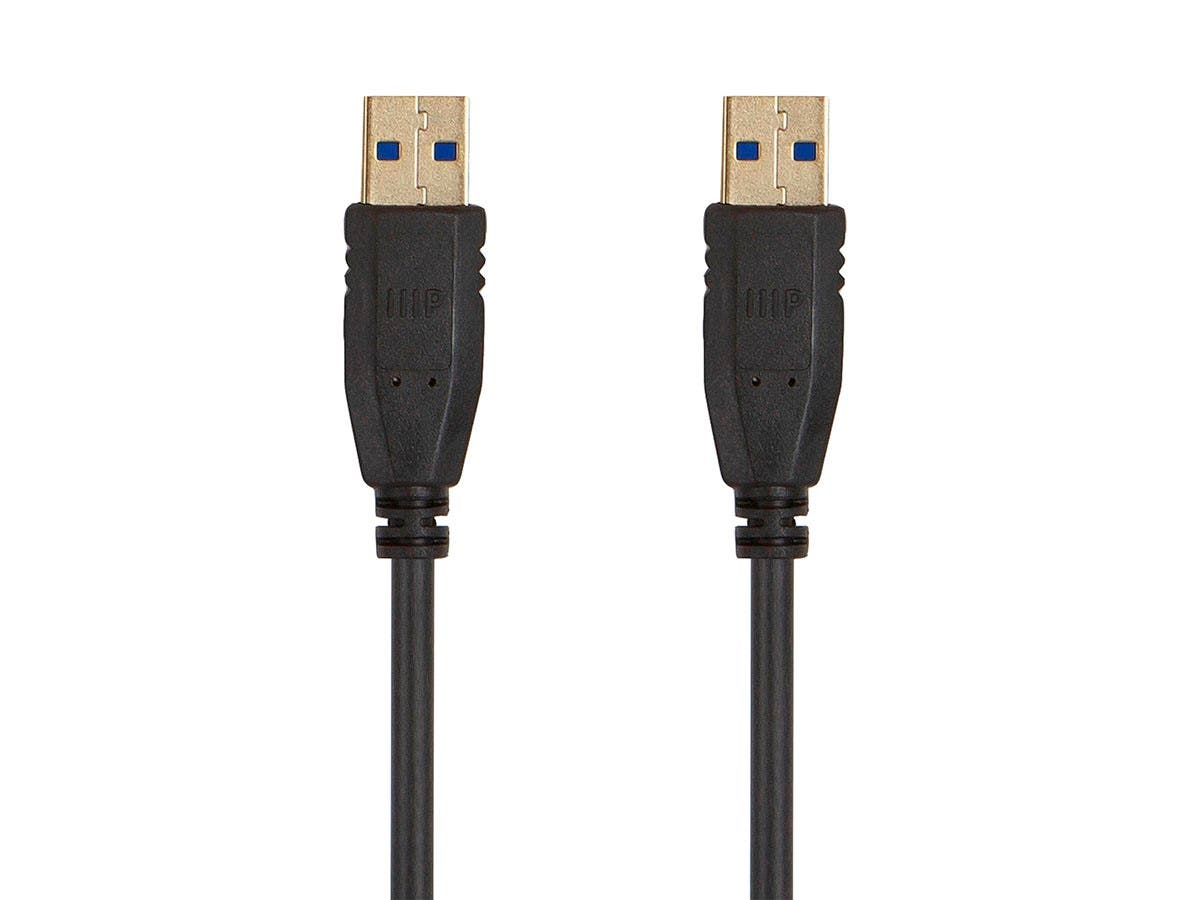 Monoprice Select USB 3.0 Type-A to Type-A Cable, 1.5ft, Black - main image