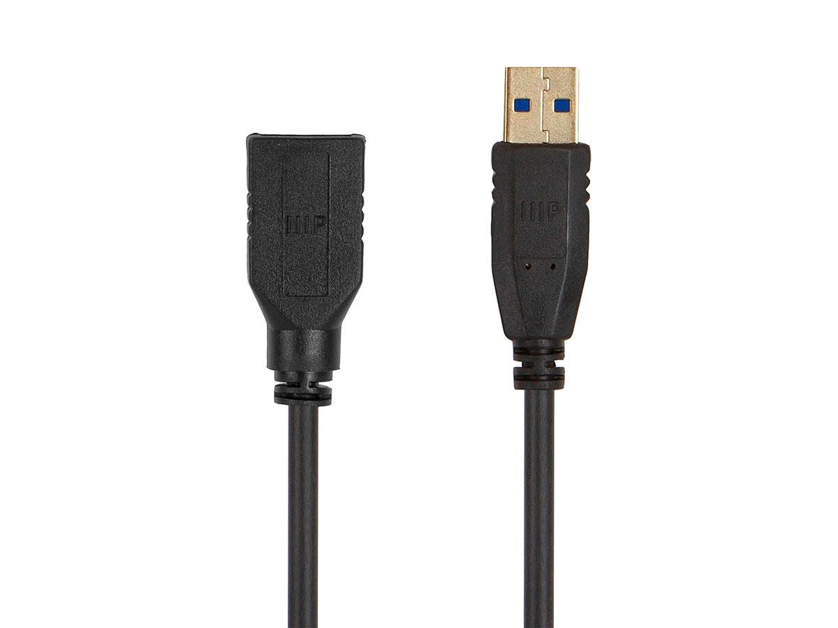 Monoprice Select USB 3.0 Type-A to Type-A Female Extension Cable, 6ft, Black - main image