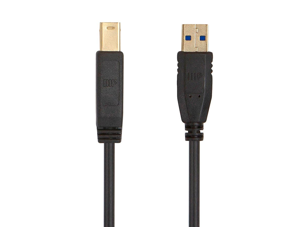 Monoprice Select USB 3.0 Type-A to Type-B Cable, 1.5ft, Black - main image