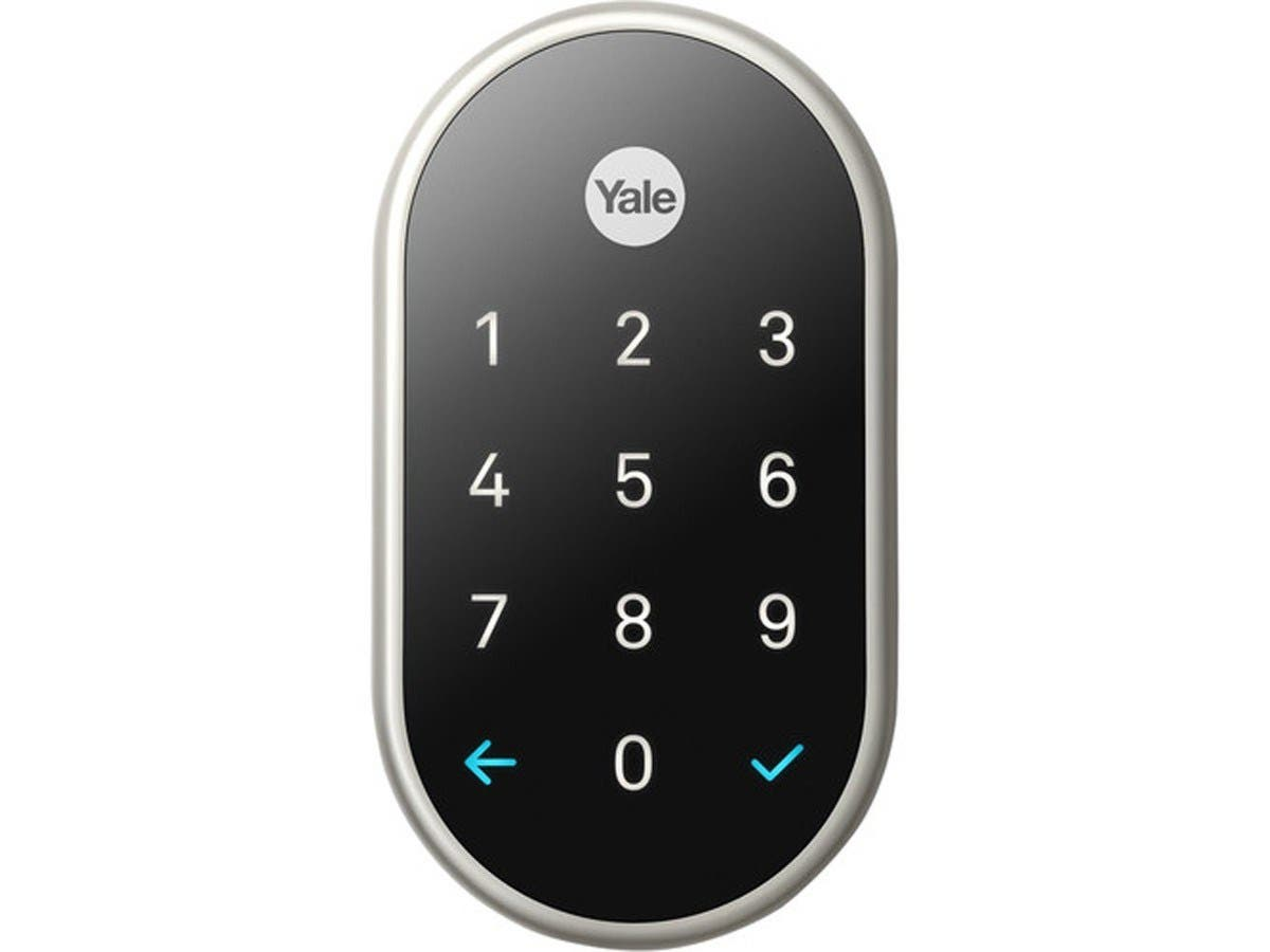 Yale Deadbolt Lock with Nest Connect - (Satin Nickel) RB-YRD540-WV-619-Large-Image-1