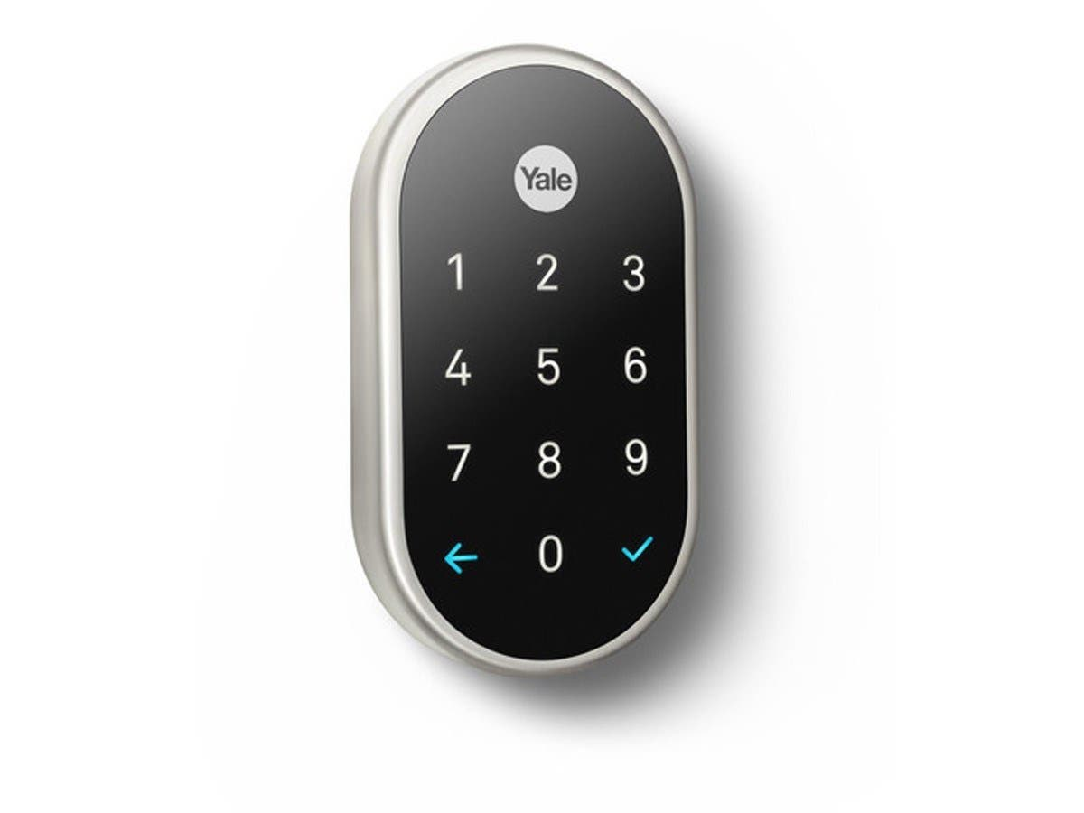 Yale Deadbolt Lock With Nest Connect Satin Nickel Rb