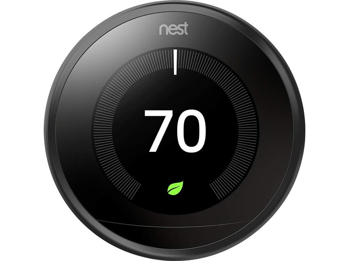Nest T3016US USLearning Thermostat 3rd Generation in Black , Compatible with Alexa -Large-Image-1