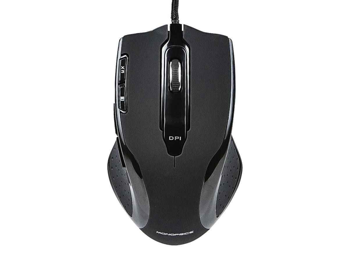 Monoprice 8-Button Executor Laser Gaming Mouse - Black (Open Box)-Large-Image-1