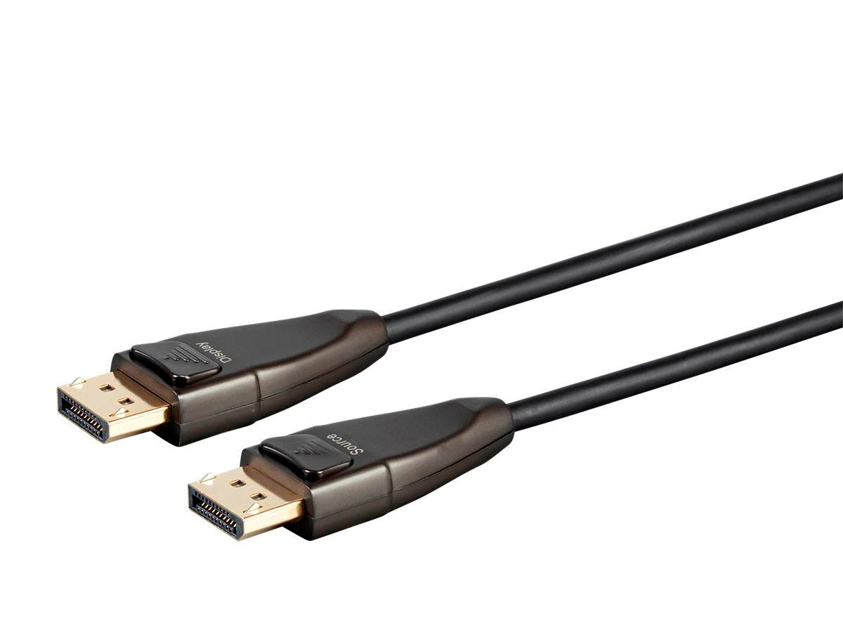 Monoprice SlimRun AV DisplayPort Cable, 32.4Gbps, 8K@30Hz, 5K@60Hz, 4K@120Hz, Fiber Optic, AOC, 100ft (Open Box)-Large-Image-1