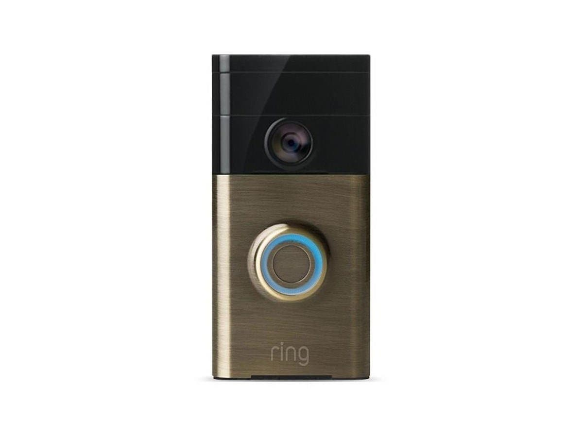 Ring Wi-Fi Enabled Video Doorbell (Antique Brass) 88RG003FC000-Large-Image-1