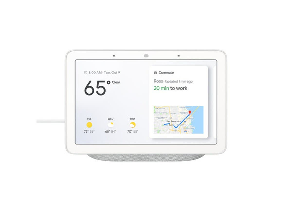 google home hub hands-free smart speaker with 7 u0026quot  screen - chalk - ga00516-us
