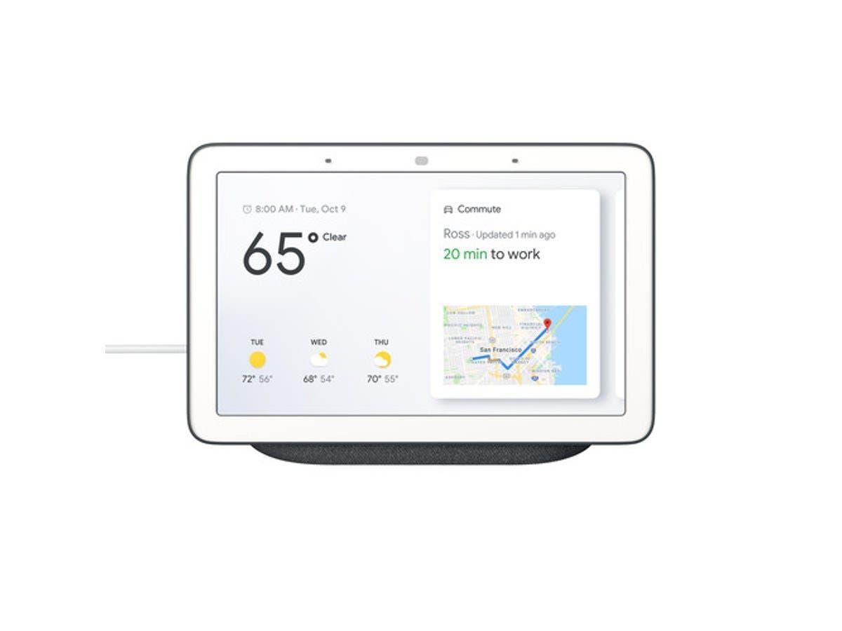 Google Home Hub Hands Free Smart Speaker With 7 34 Screen Charcoal Ga00515 Us Monoprice Com