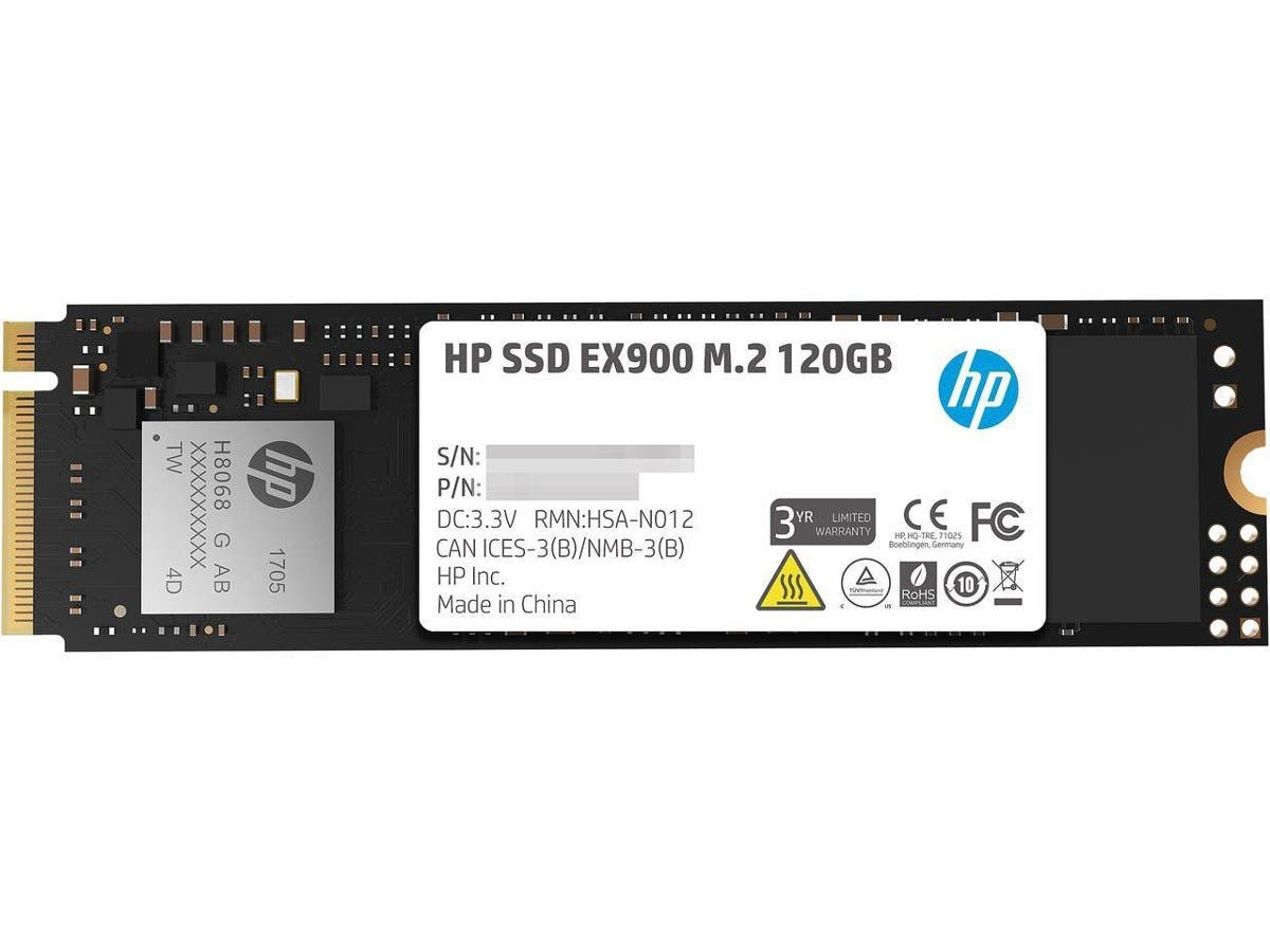 HP EX900 M.2 120GB PCIe 3.0 x4 NVMe 3D TLC NAND Internal Solid State Drive (SSD) 2YY42AA#ABC-Large-Image-1