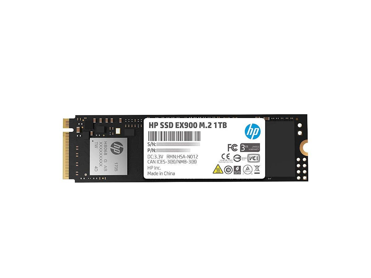 HP EX900 M.2 1TB PCIe 3.1 x4 NVMe 3D TLC NAND Internal Solid State Drive (SSD) Max 2100 MBps - 5XM46AA#ABC -Large-Image-1