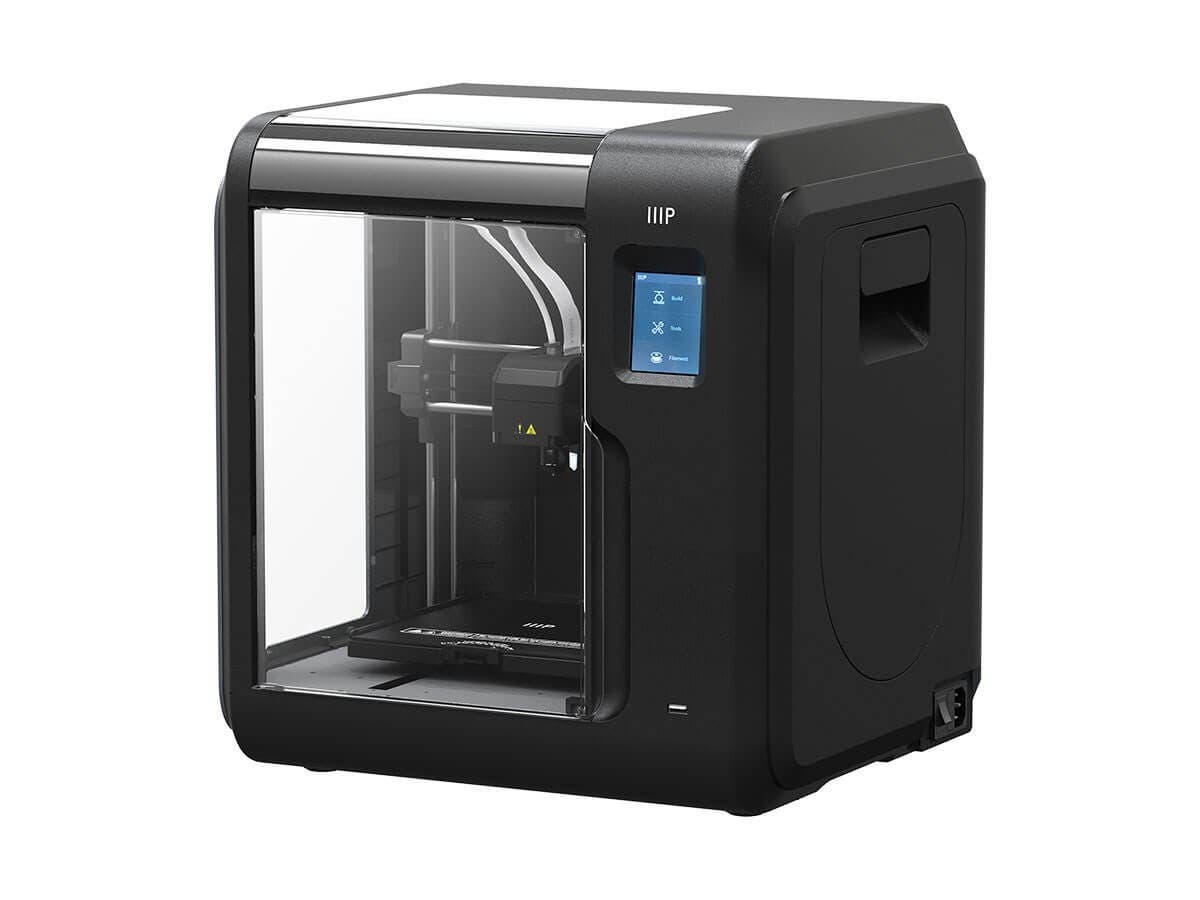 Monoprice MP Voxel 3D Printer, Fully Enclosed, Assisted Level, Easy Wi-Fi, Touch Screen, 8GB On-Board Memory, BLACK (Open Box)-Large-Image-1