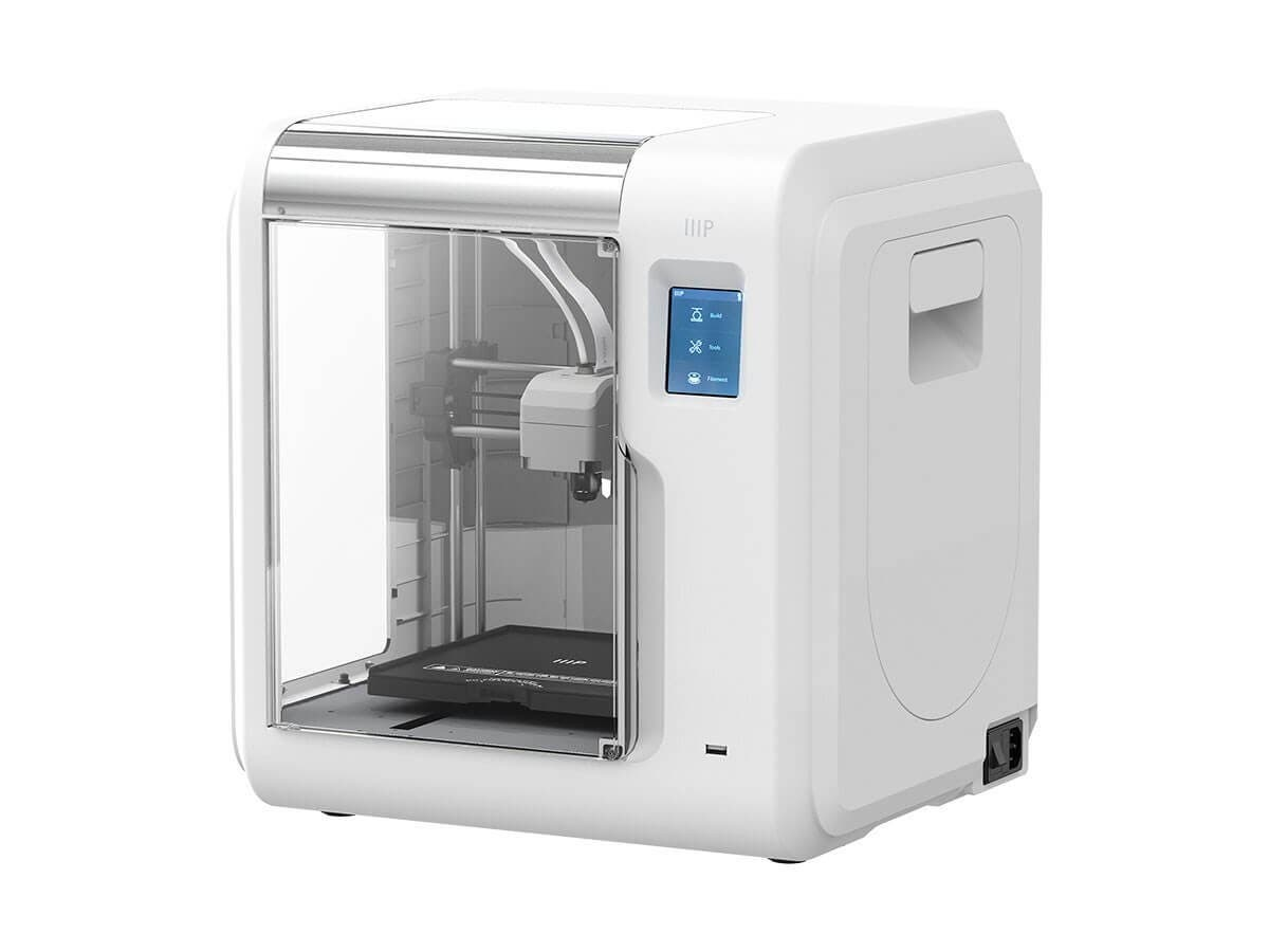 Monoprice MP Voxel 3D Printer, Fully Enclosed, Assisted Level, Easy Wi-Fi, Touch Screen, 8GB On-Board Memory, WHITE (Open Box)-Large-Image-1