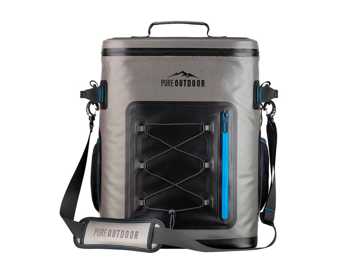 Pure Outdoor by Monoprice Insulated and Waterproof Premium Soft Backpack Cooler w/ 42-Can Capacity - main image