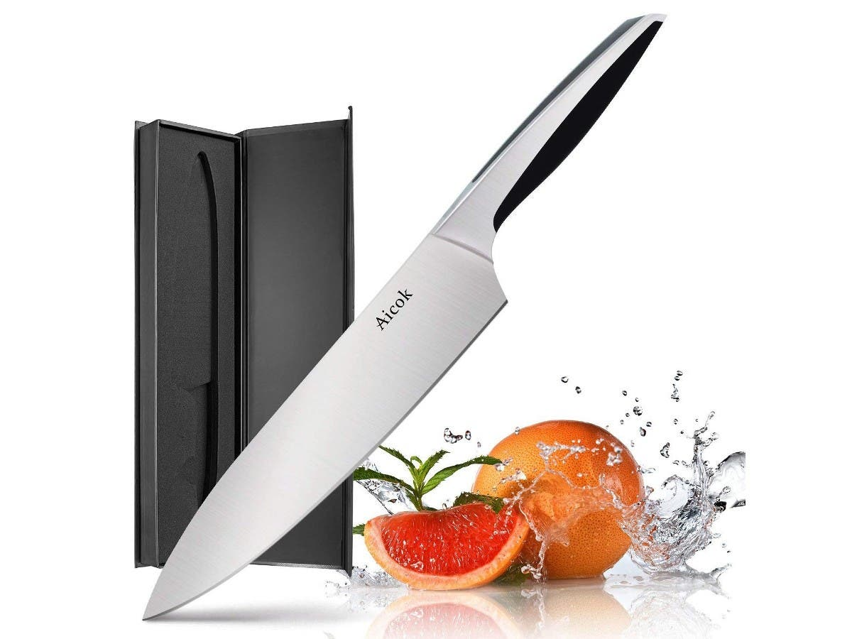 Aicok Pro Kitchen Knife 8 Inch Chef's Knife N1 German High Carbon Stainless Steel w/ Ergonomic Handle, Ultra Sharp, for Home Kitchen and Restaurant-Large-Image-1