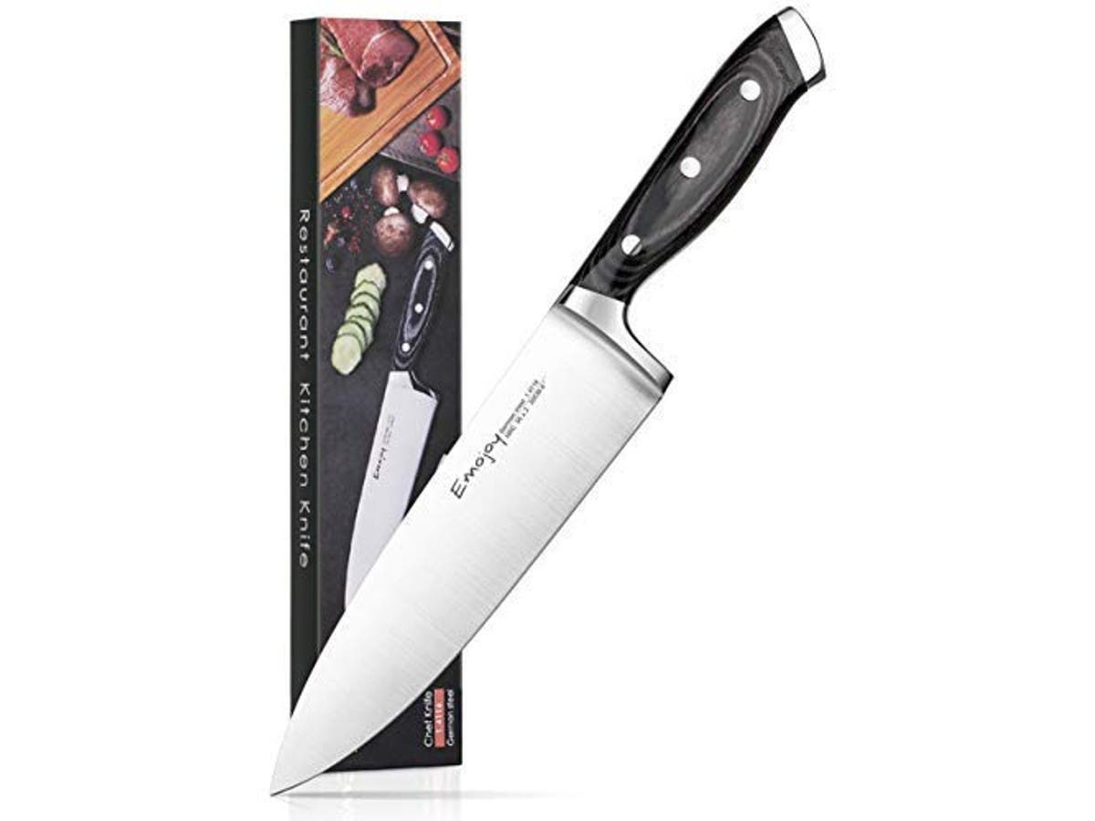 Emojoy Chef Knife, Kitchen Knife 8 inch with Ergonomics Handle, Germanal High Carbon Stainless Steel-Large-Image-1