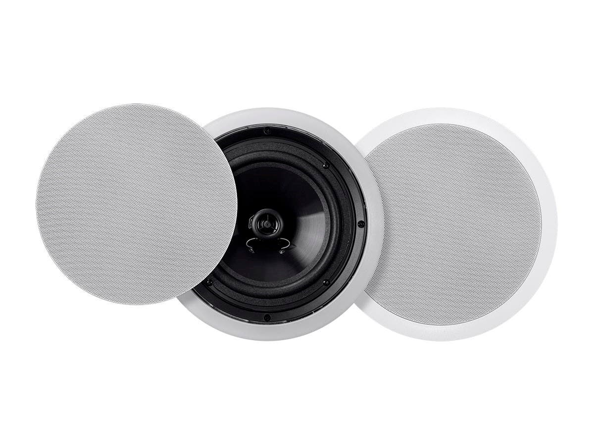 Monoprice Commercial Audio Metro 30W 8-inch Coax Ceiling Speaker 70V Pair (No Logo) (Open Box)-Large-Image-1