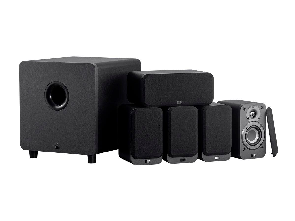 Monoprice HT-35 Premium 5.1-Channel Home Theater System with Powered Subwoofer, Charcoal - main image