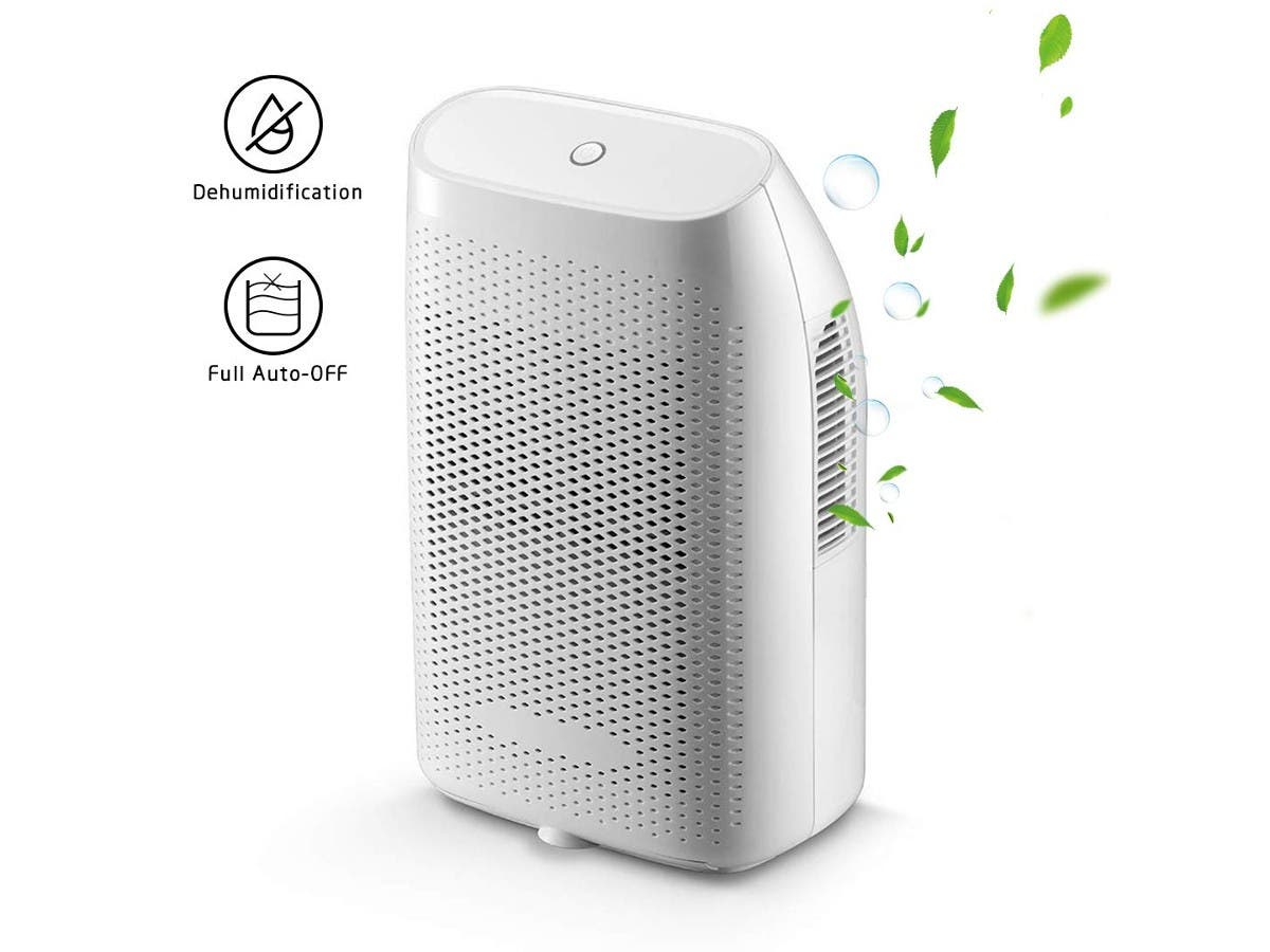 Dehumidifiers for Home Mini Electric,2000ml Capacity up to(269 sq.ft) Quietly Auto Shut-Off Portable Small Dehumidifiers for Basements Bedroom,Bathroom,RV,Baby Room,Closet -Large-Image-1