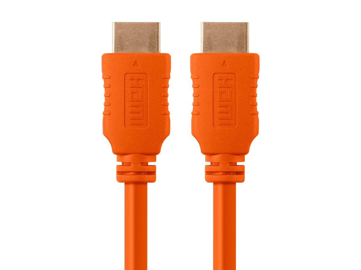 Monoprice Select Series High Speed HDMI Cable - 4K@60Hz HDR 18Gbps YUV 4:4:4 28AWG 10ft Orange-Large-Image-1