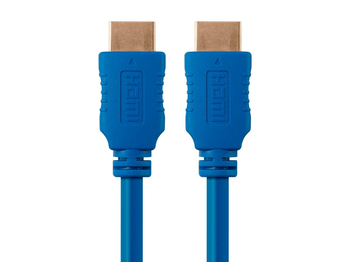 Monoprice Select Series High Speed HDMI Cable - 4K@60Hz HDR 18Gbps YUV 4:4:4 28AWG 10ft, Blue-Large-Image-1