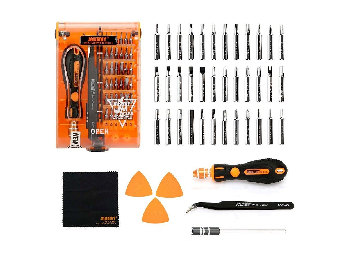 39 in 1 Precision Screwdriver Set with Tweezers, 36 Magnetic bits repair tools small hand tools for iphone and toys  - main image