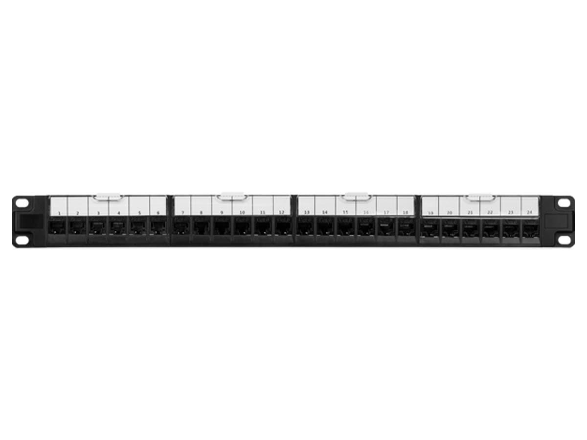 Cat6 Unshielded Network Patch Panel 24-port 19/'/'Rack Mount T568B//T568A
