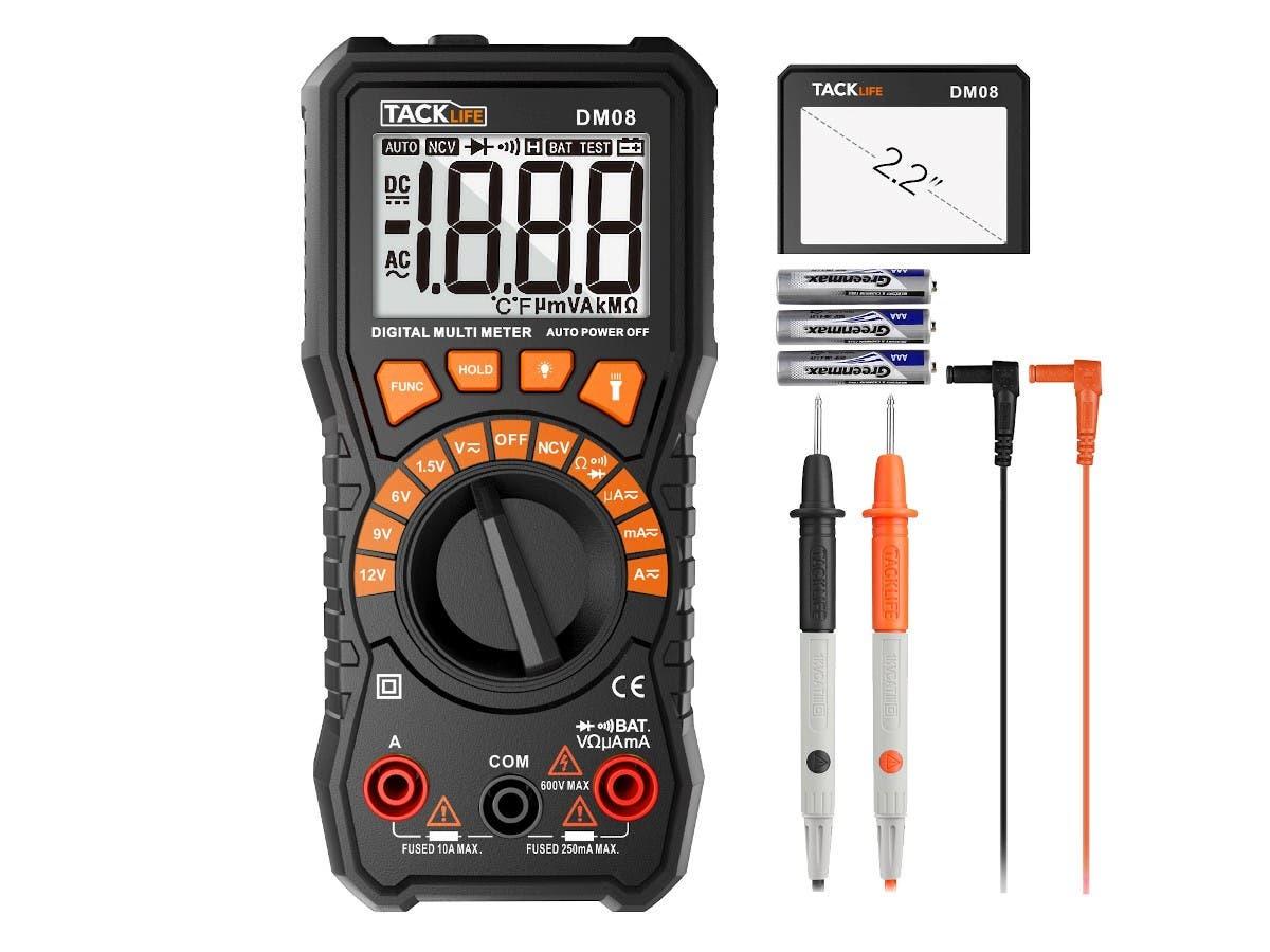 Multimeter, Tacklife DM08 Digital Multimeter, DC/AC Voltage