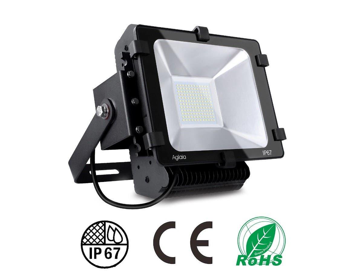 Aglaia Lt F7 Flood Light 100w Color Temperatures 6000k Smd Black Monoprice Com