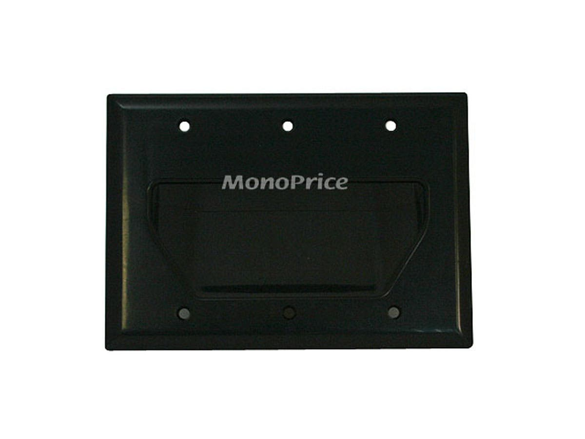 Low Voltage Cable Wall Pass Through Plates : Monoprice gang recessed low voltage cable wall plate