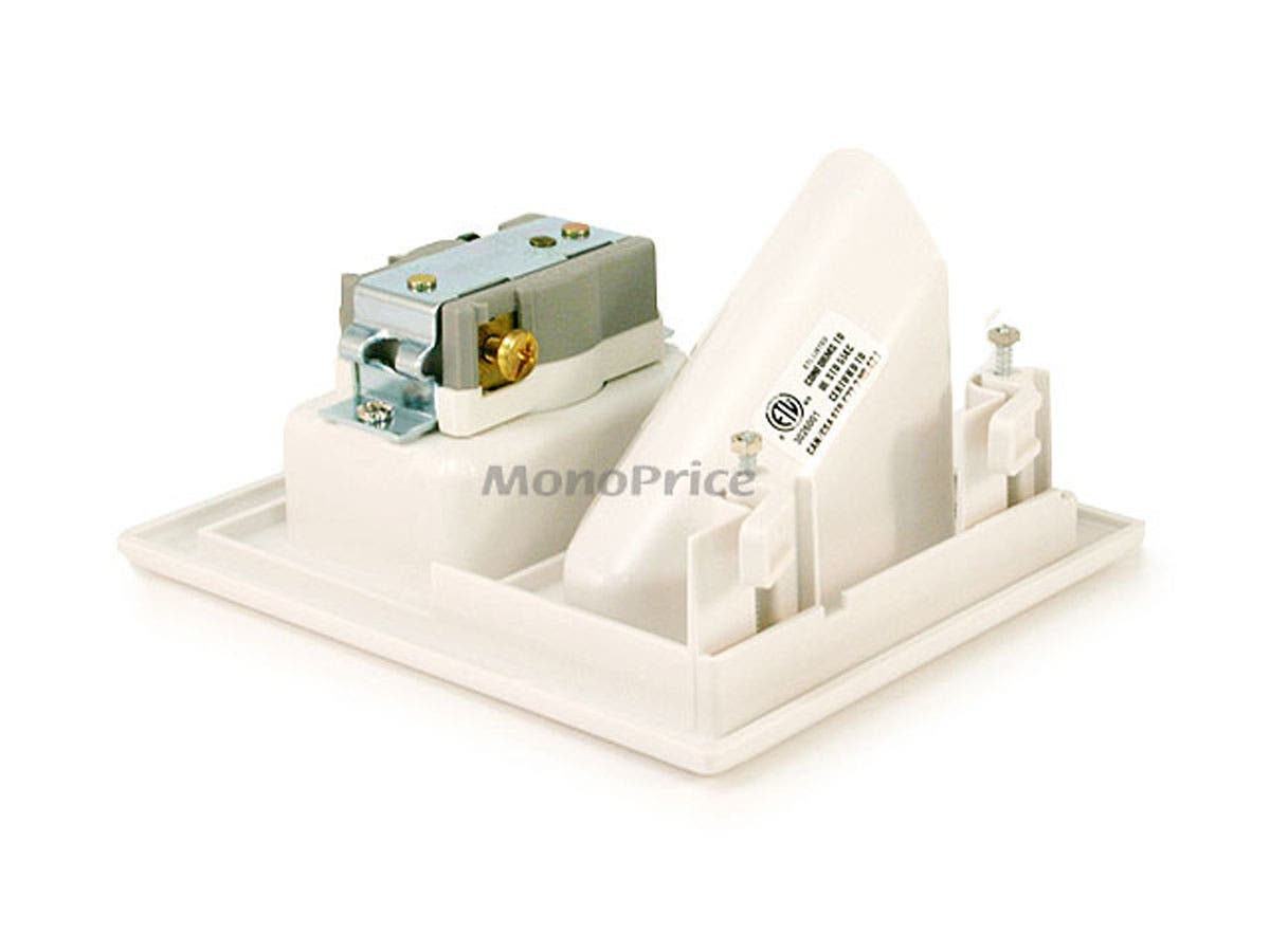 Monoprice Recessed Low Voltage Cable Wall Plate W