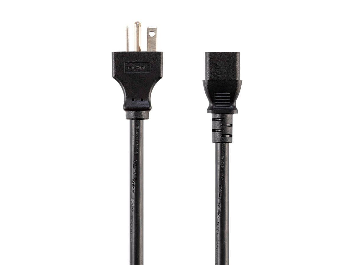 Monoprice Heavy Duty Power Cord - NEMA 6-20P to IEC 60320 C13, 14AWG, 15A/1875W, SJT, 125V, Black, 8ft - main image