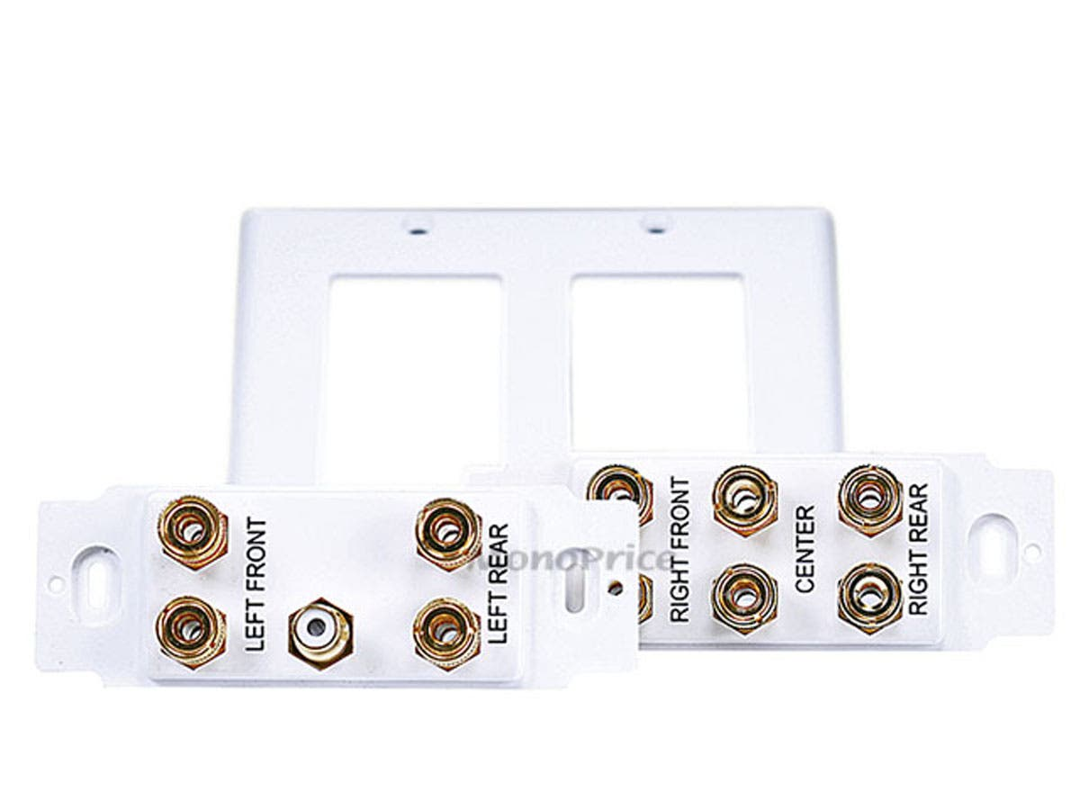 Monoprice 2 Gang 51 Surround Sound Distribution Wall Plate Wiring Recepitacle Youtube Small Image 3