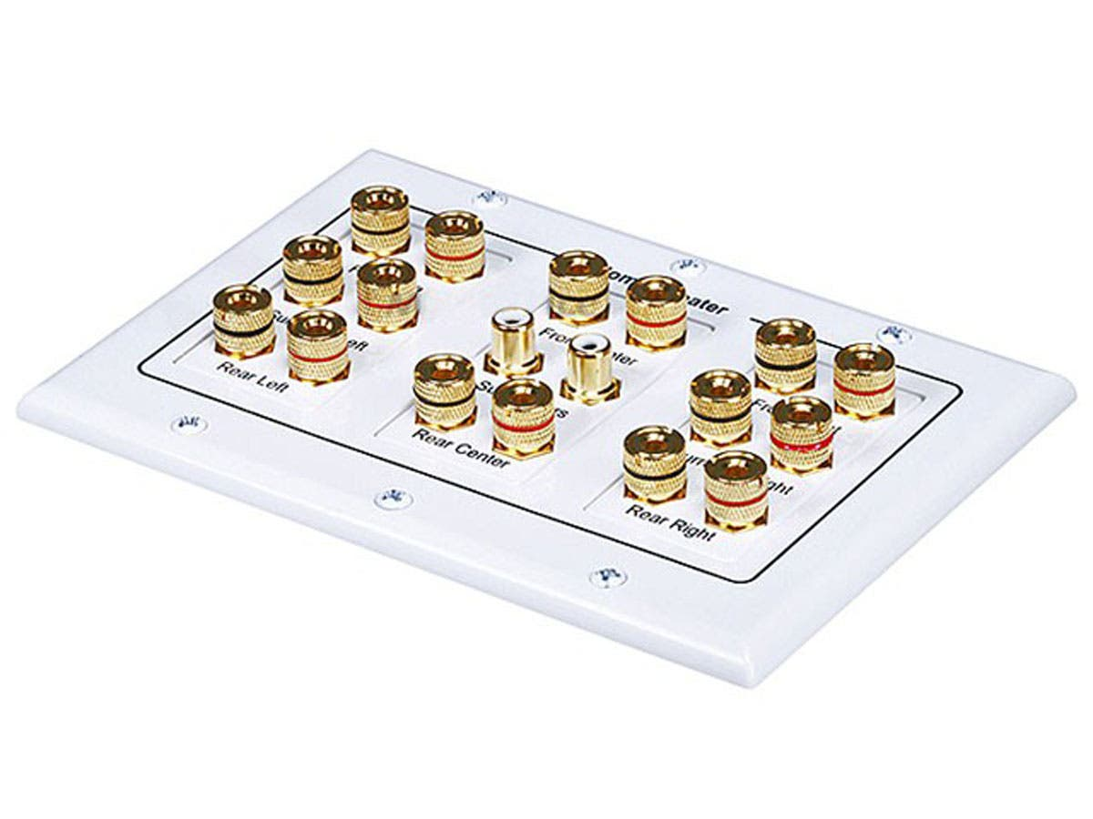 Monoprice 3-Gang 8.2 Surround Sound Distribution Wall Plate-Large-Image-1