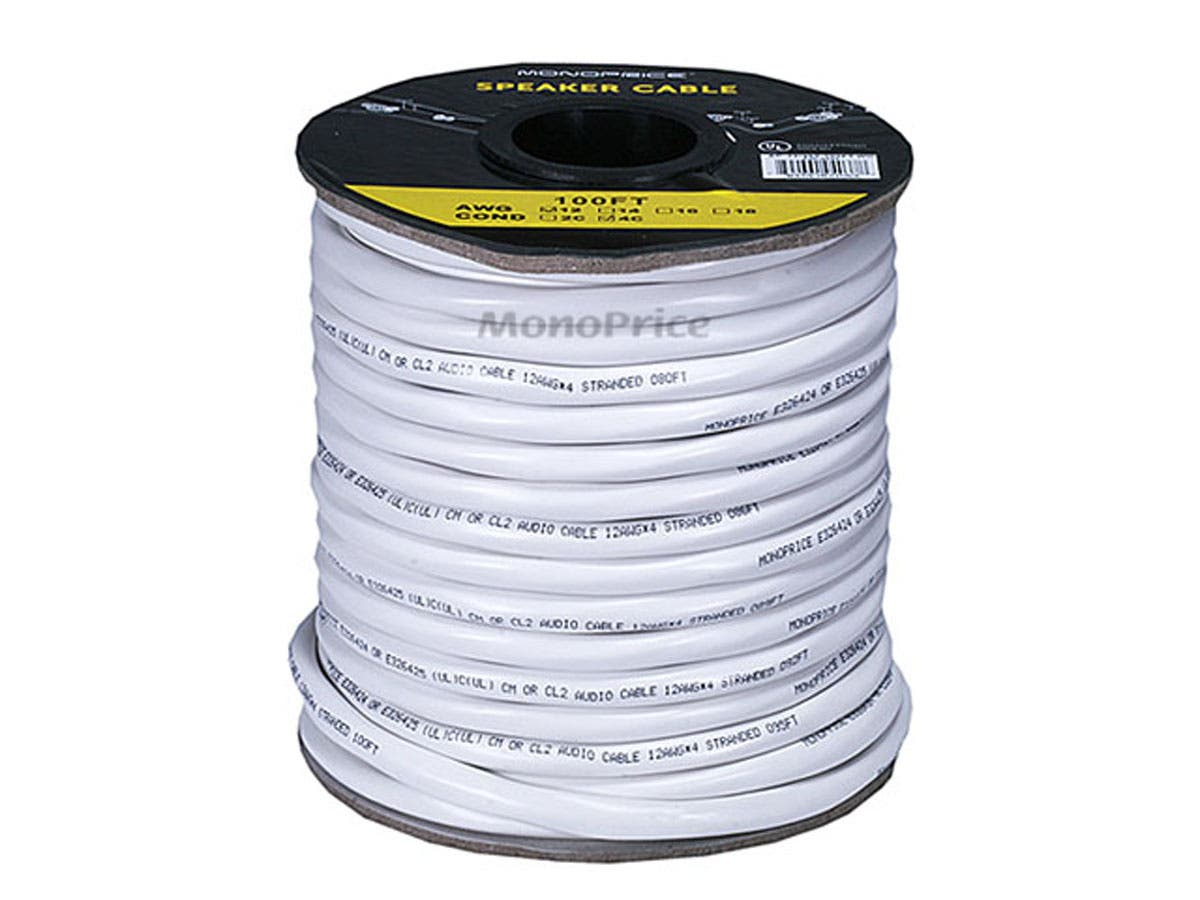 Monoprice Access Series 12AWG CL2 Rated 4-Conductor Speaker Wire ...