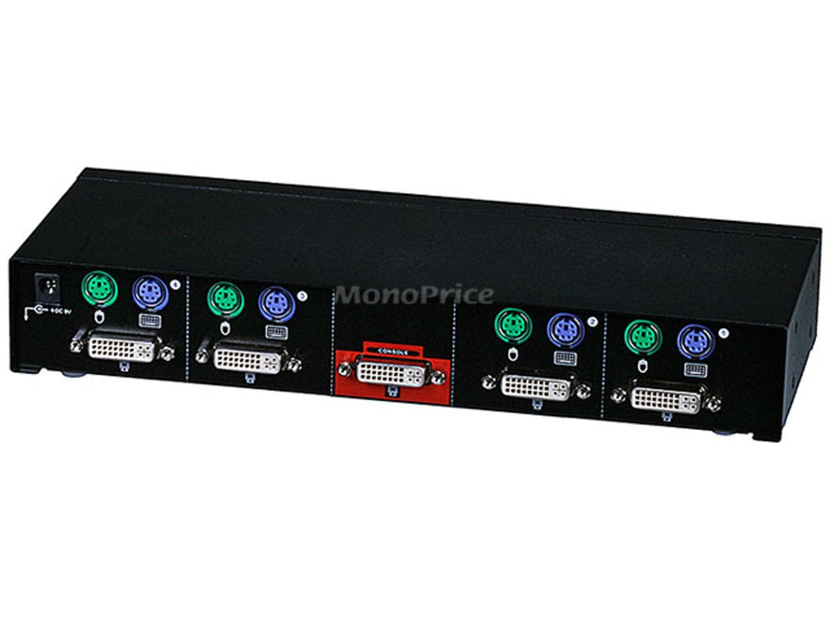 Monoprice 4 Port Dvi Kvm Switch Retail Monoprice Com