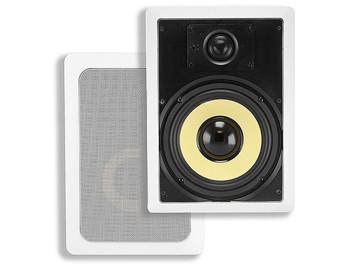 Caliber In-Wall Speakers, 6.5in Fiber 2-Way (pair)-Large-Image-1