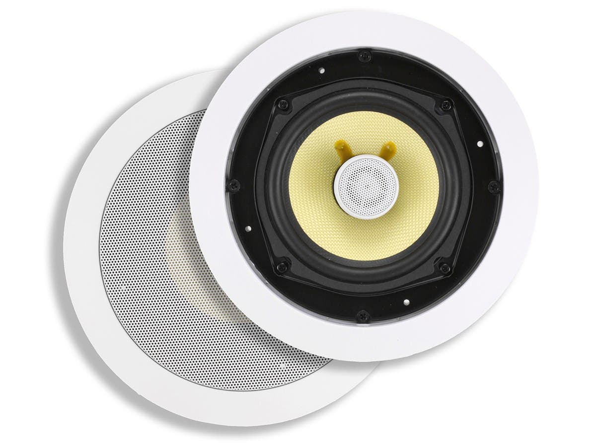 Caliber In-Ceiling Speakers, 5.25in Fiber 2-Way (pair)