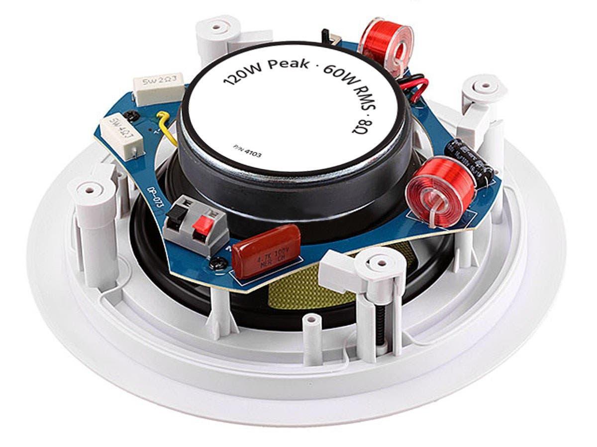 Monoprice Caliber In-Ceiling Speakers, 6 5in Fiber 2-Way