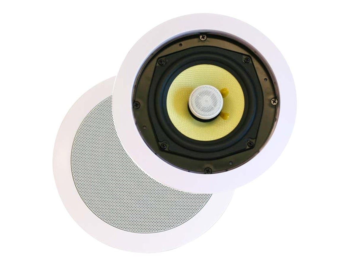 Monoprice Caliber In-Ceiling Speakers, 8in Fiber 2-Way (pair)-Large-Image-1