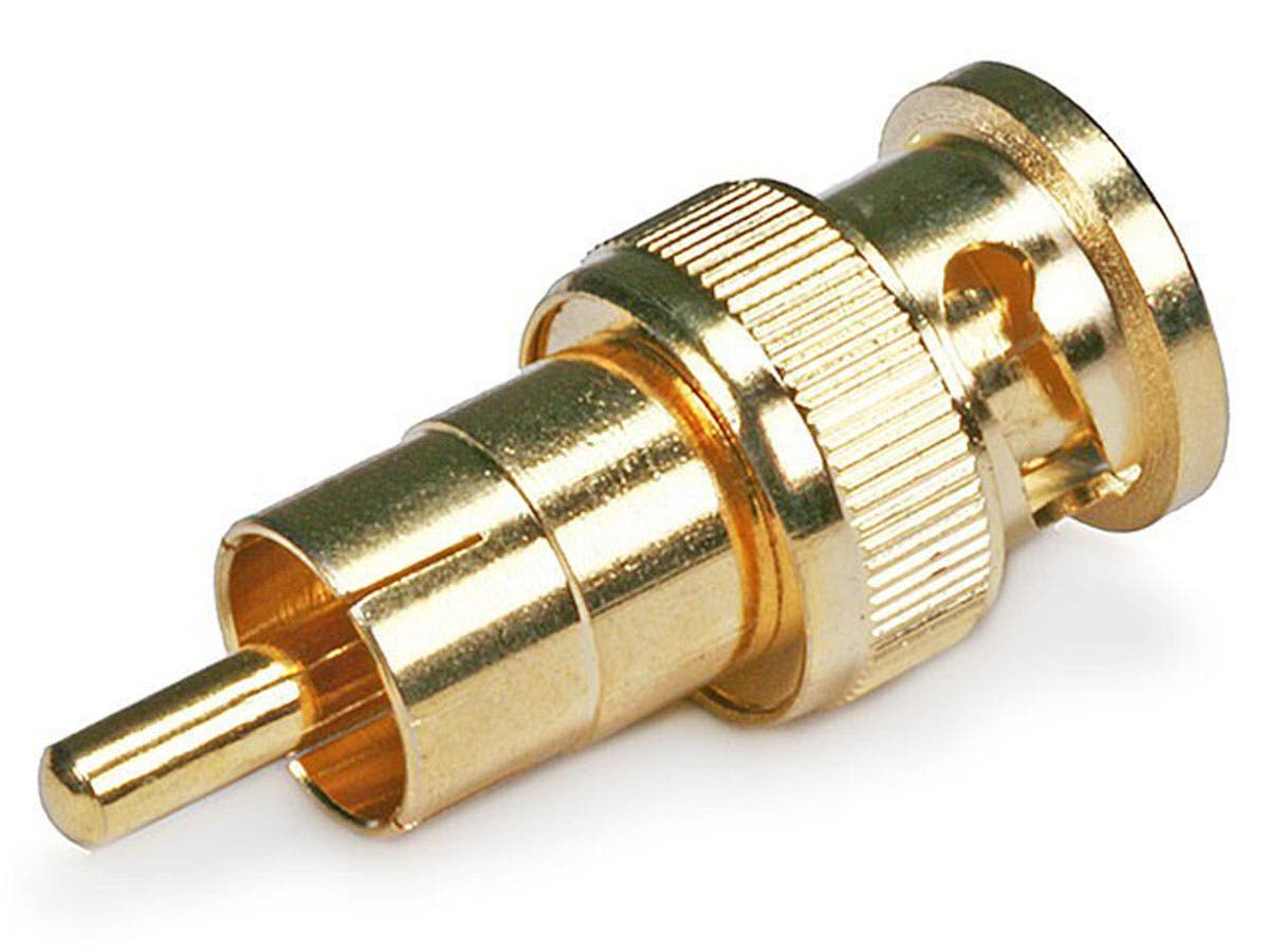Monoprice BNC Male to RCA Male Adapter - Gold Plated-Large-Image-1