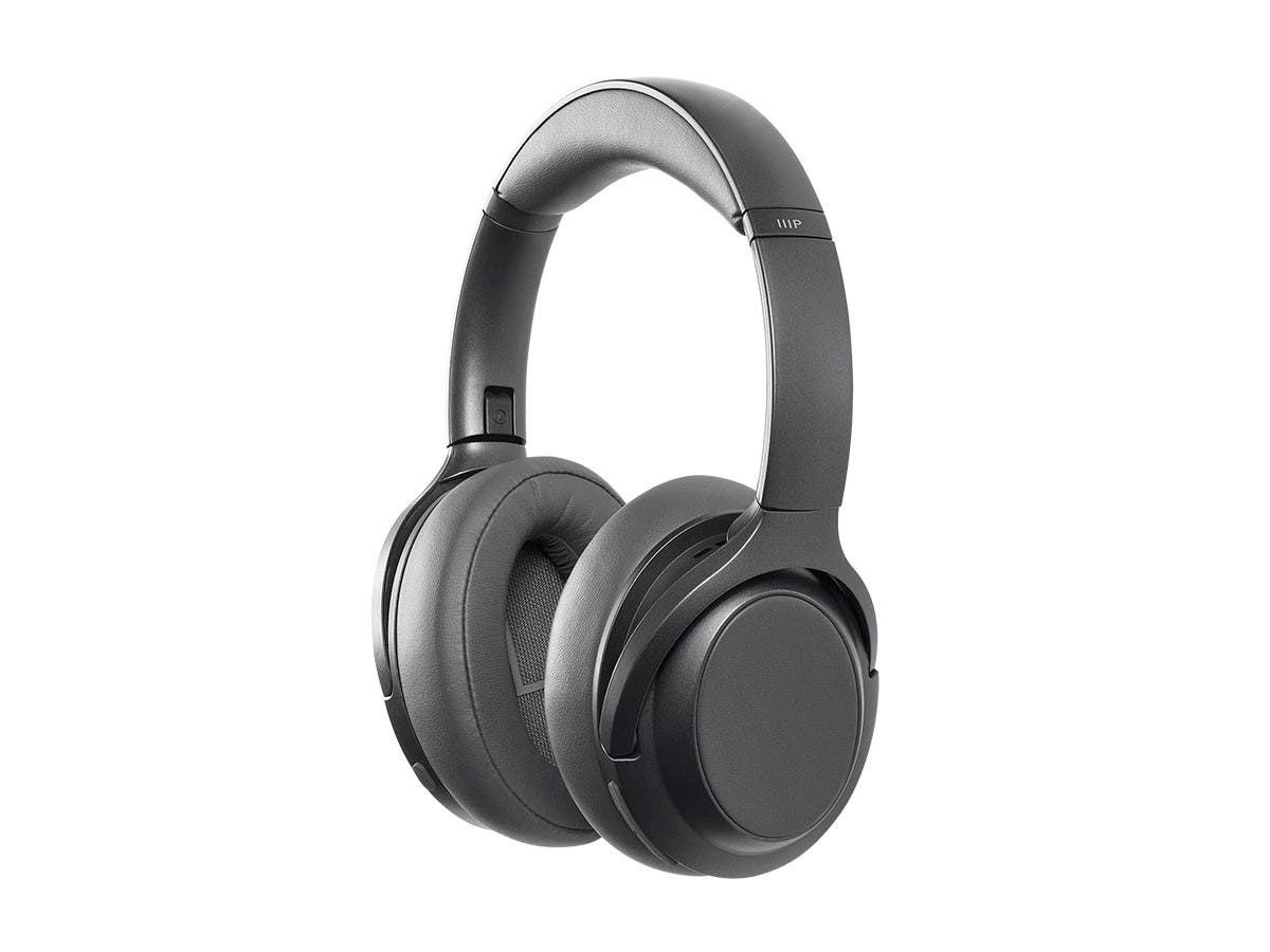 Monoprice BT-600ANC Bluetooth Over Ear Headphones with Active Noise Cancelling (ANC), Qualcomm aptX HD Audio, AAC, Touch Controls, Ambient Mode, 40hr Playtime, Carrying Case, Multi-Pairing - main image