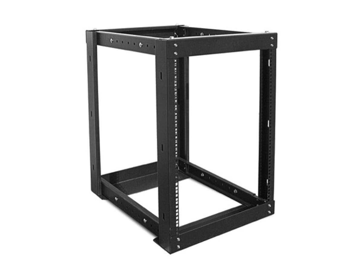 Monoprice 15U 1100mm Adjustable Open Frame Server Rack, GSA Approved - main image