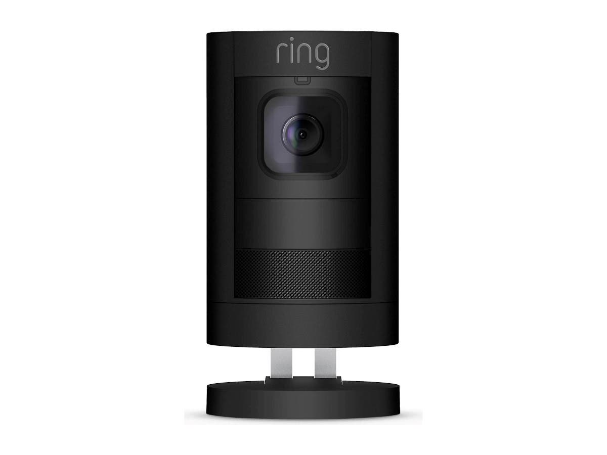 Ring - Stick Up Indoor/Outdoor Wire free Security Camera - Black 2nd Gen - 8SS1S8-BEN0 - main image