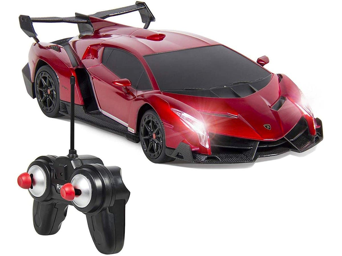 Electric Rc Car Radio Remote Control Sport Racing Hobby Grade Model Car 1 24 Scale For Kids Adults Red Monoprice Com