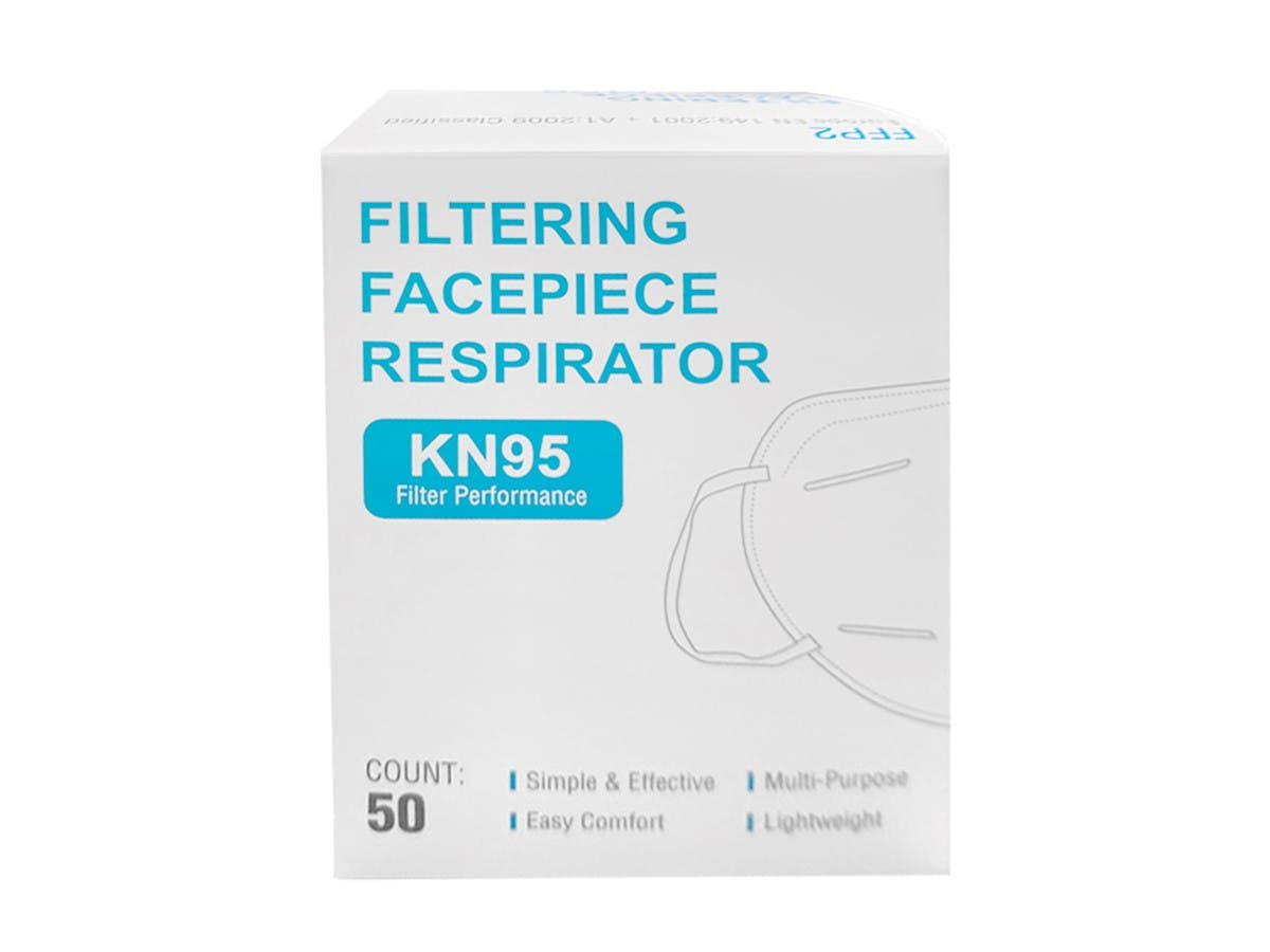 KN95 Face Mask 50 Pack (5 bags of 10) Breathing Respiratory protection FDA and CE Certified Non-Woven Non surgical - main image