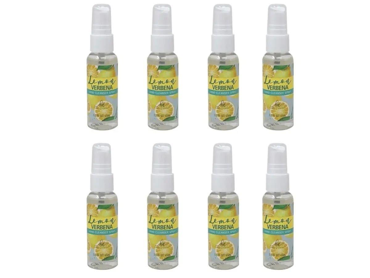 8 Pack Hand Sanitizer Spray 1 5oz 45ml 75 Alcohol Lemon Scented Hand Cleanser Spray Non Gel Monoprice Com