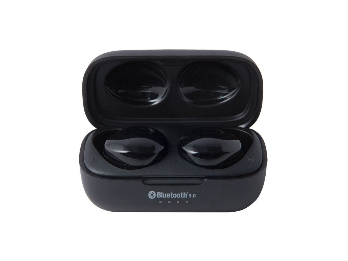 Monoprice True Wireless Earphones Bluetooth 5, IPx6, Sweatproof, 6 Hour Playtime, Charging Case - main image