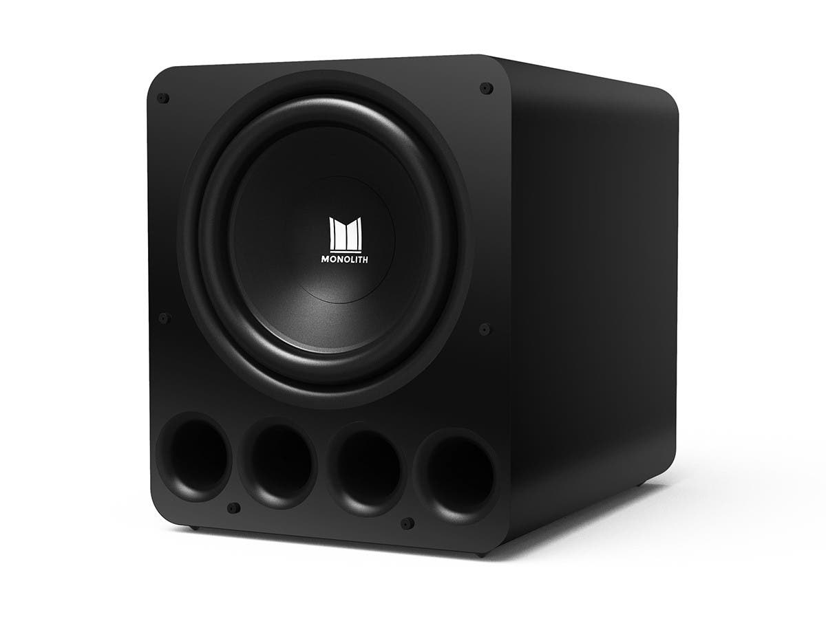 Monolith by Monoprice 16in THX Ultra Certified 2000 Watt Powered Subwoofer (Matte Black/Painted) - main image