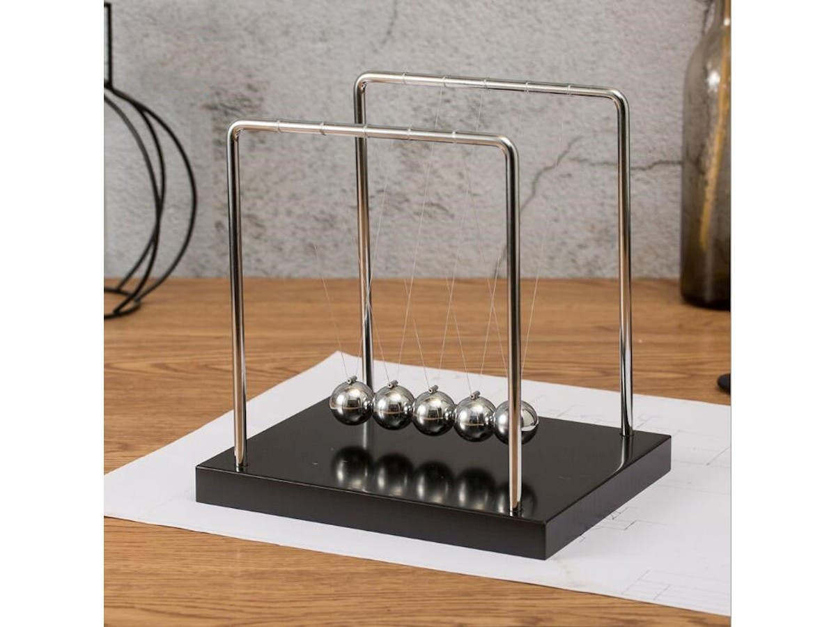 Classic Newton's Cradle balance balls for fun science physics learning desk toys Pendulum for office or home  - main image