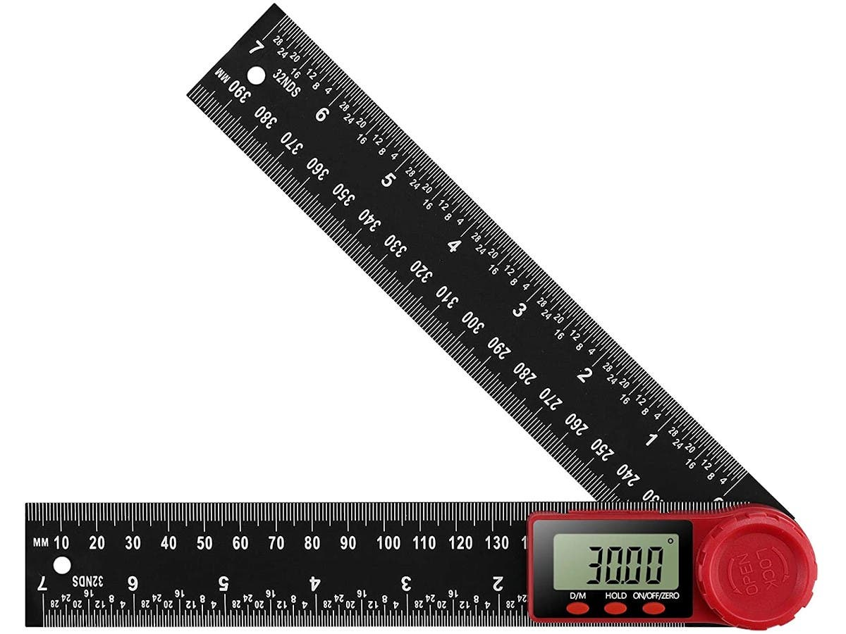 0-500mm Battery Powered Goniometer 360 Degree Angle for Length Measuring Angle Measuring Electronic Ruler Protractor Ruler