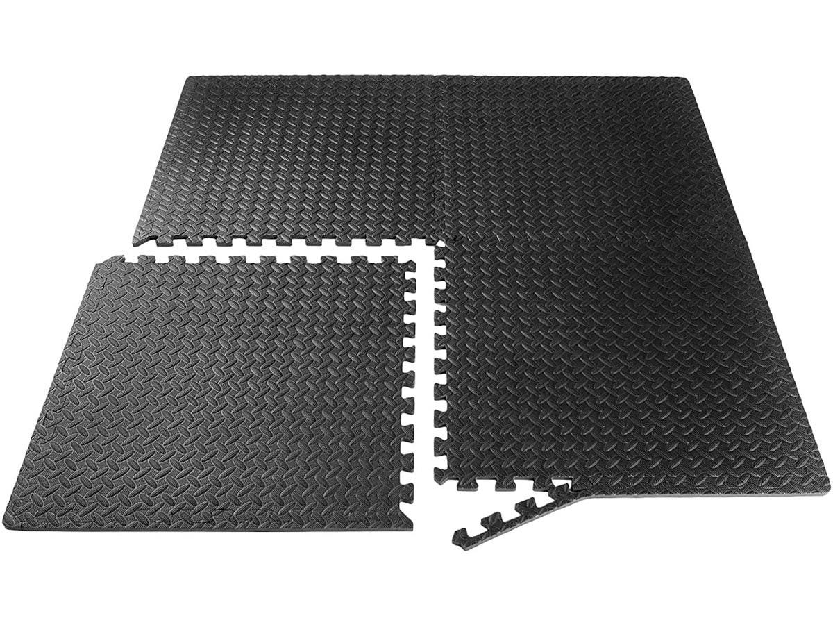Puzzle Exercise Mat with EVA Foam for MMA, Exercise, Gymnastics and Home Gym Protective Flooring - Black 9 Pack - main image
